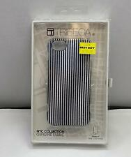Tribeca NYC Collection Case iPhone SE 5/5s Genuine Fabric Stripped Black/White