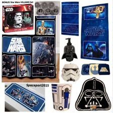 29p Complete STAR WARS Classic BATH SET Shower Curtain+Towels+Rug Kids FREE GIFT