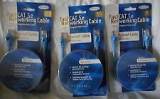 BELKIN Fast Networking Ethernet Cable CAT5e Rj45 male/male 7ft 2.1m LOT 3