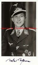 Walter Wolfrum signed photo. Luftwaffe Ace.
