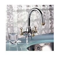 Franke TFB-309 Bathroom Triflow Faucet w/ Water Filter POLISHED CHROME / BRASS