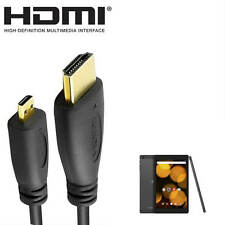 Bush Spira B2 7/8 Inch Tablet PC HDMI Micro to HDMI TV 5m Long Wire Lead Cable