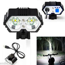 6000lm 2 x CREE XM-L T6 USB LED Waterproof Bike Bicycle Cycling Front Head Light