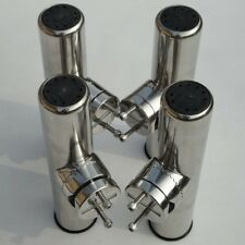 "4X Clamp On Fishing Rod Holder For Rails 7/8"" to 1"" Tube Stainless Steel 304"