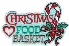 Girl Boy Cub CHRISTMAS FOOD BASKETS Patches Badge SCOUT GUIDE donation assembly