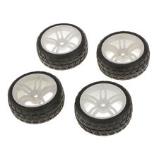4PCS RC 1/10 Off-Road Car Buggy Rubber Tyres Tires Wheel Rims Car Toys