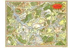 Reproduction Carte de Cassini Nancy et la Vallée de la Meurthe Lunéville 54