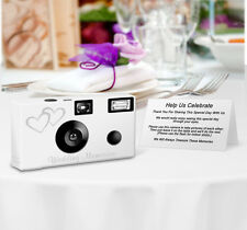 8 pack PERSONALIZED Double Hearts Disposable Camera, wedding cameras, wedding