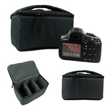 Waterproof DSLR SLR Camera Insert Padded Partition Camera Bag With Handle Gray