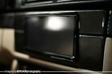 BMW E39 5 SERIES  M5 DOUBLE DIN REAL CARBON FIBER STEREO BEZEL 7IN