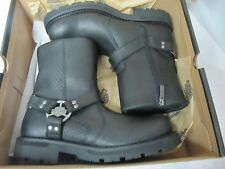 HARLEY DAVIDSON HOLDER MEN'S BOOTS MEDIUM BLACK LEATHER 9.5 D96091 NIB