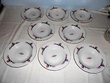 """8 Menuet Poland Royal Vienna Collection 8 1/2"""" Rim Soup Bowls - Excellent"""