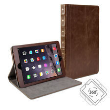 iPad mini Case - Book Case 360 -  Brown PU Leather Rotating Swivel Cover