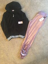 NWT Juicy Couture Medium M Tracksuit New With Tags Authentic Hoodie Pants Velour