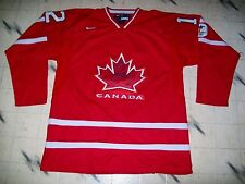 2010 TEAM CANADA AUTHENTIC ON ICE JEROME IGINLA HOCKEY JERSEY W/ FIGHT STRAP XL