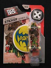 NEW! TECH DECK Throwback Sticker Series 2 Tony H-Street 2/6 Finger board