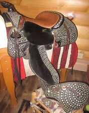 Rare vintage Wyeth Saddle August Buermann bit on a studded bridle collar parade