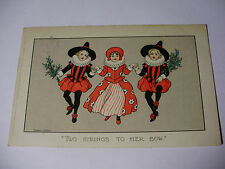 "K334 - 1907 Florence Hardy ""TWO STRINGS TO HER BOW"" Faulkner No501D POSTCARD"