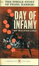DAY OF INFAMY Pearl Harbor by Walter Lord (1958) Bantam illustrated pb 1st