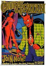COOP mini Art Devil Girl Poster Print Church of Satan Anton Lavey