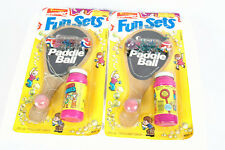 Vintage Fun Sets ChemToy Wonder Paddle Ball Ages 3+ Lot of 2 Sealed 1983 NIP