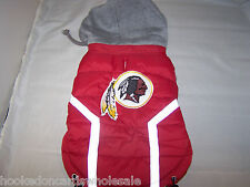 Washington Redskins NFL Dog Vest Coat Jacket Puffer Style Hooded - Extra Large