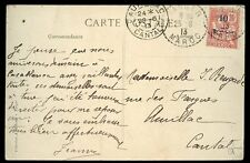 France Cols Moroc 1913 PPC Tanger to France 10c/10c Protectorate