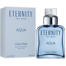 ETERNITY AQUA * Calvin Klein 6.7 oz / 200 ml Eau de Toilette Men Cologne Spray