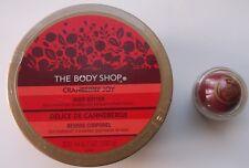 Body Shop Cranberry Joy Body Butter (200ml) and Lip Balm (6.5ml) - NEW/SEALED.