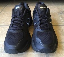 ASICS Men Gel Kayano 22 Black Running Training Athletic Shoes Size 10.5