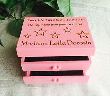 Personalized Wood Etched Trinket / Jewelry Box. Great gift for child's birthday