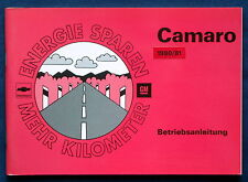 Owner's Manual * Betriebsanleitung 1980 / 1981 Chevrolet Camaro (D)