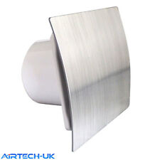 "Bathroom Extractor Fan 100mm /4"" Modern Shower Kitchen ES-100 Brush Chrome Finsh"