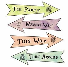 Party Arrows Alice in Wonderland party decoration set of 4 pastel grunge