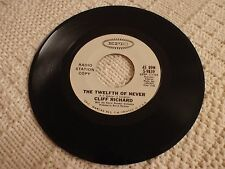 CLIFF RICHARD  THE TWELFTH OF NEVER/PARADISE LOST EPIC 9839 PROMO