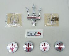 "MASERATI ORIGINAL FACTORY EQUIPMENT GHIBLI ""GTS"" EMBLEM & WHEEL CENTER CAP KIT"