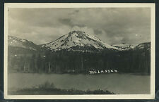 CA Mt Lassen RPPC 1910's VIEW of MOUNTAIN FROM ACROSS LAKE Excellent Cond.