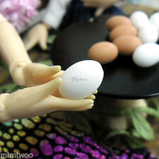Blythe Pullip Momoko DAL 1/6 Bjd Doll Miniature Mini Resin Food White Egg (5pcs)