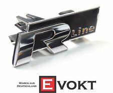 VW Passat B7 R-Line Lettering Emblem For Front Grille 3AA853948FXC Genuine New