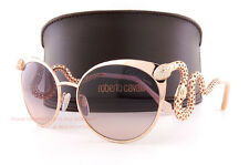 Brand New Roberto Cavalli Sunglasses RC 890S 28F Rose Gold/Brown For Women