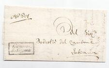 P454-FRIULI-GOV.PROVV.1814-PREF.DA MUZZANA A LATISANA