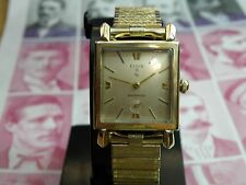SERVICED 1950`S-60`s  ELGIN MEN`S WRISTWATCH.....EXTREMELY CLEAN