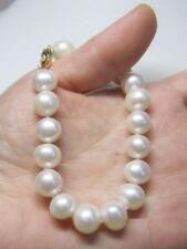 AAA noble natural 9-10mm south sea white pearl bracelet 7.5-8 inch