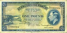 BERMUDA 1 Pound 1937 P-11b VF circulated banknote