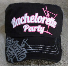 New Cadet Hat Bachelorette Party Martini Glass Black White and Pink Hip Hop Dope