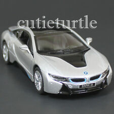 Kinsmart Bmw i8 2 Doors Coupe 1:36 Diecast Toy Car Silver