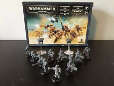 Warhammer 40K/40,000 Tau Fire Warrior Team (12 Warriors + 2 Drones)