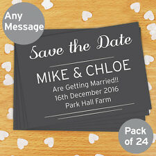 PERSONALISED WEDDING STATIONARY Modern Save the Date Thank you cards ANY TEXT