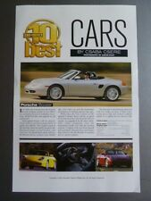 2002 Porsche Boxster Car & Driver Showroom Advertising Sales Sheet Awesome L@@K