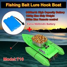 New T10 Bait lure Boat Fishing RC Anti Grass Wind Remote Control+9600mAh Battery